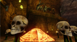 Camp fire material with animated emmisive propertys