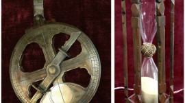 Replica Astrolabe and hour glass