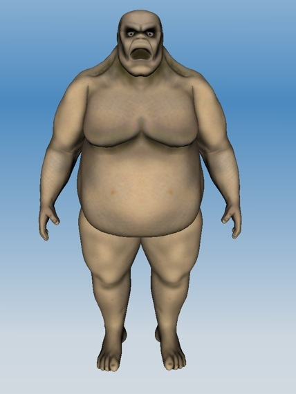 Here is a sculpt of a fatty zombie made using 123d sculpt which i will